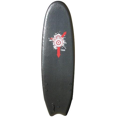 Atom Softtop Surfboard (6-Feet, Black)