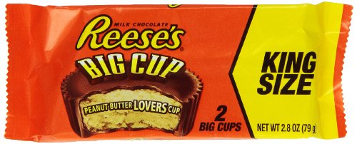 REESE'S King Size Peanut Butter Big Cup, (2.8-Ounce, Pack of 16)