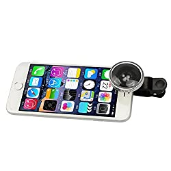 Detachable Fish Eye Selfie Cam Lens, BUTEFO Universal Super Wide 0.4x Angle Camera Clip Lens for Smart Phones(including iPhone,Samsung Galaxy,HTC,Blackbery,Nokia and more), Tablet, Ipad and Laptops