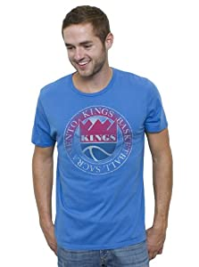NBA Sacramento Kings Mens Vintage Solid Short Sleeve Crew T-Shirt, Blueberry by Junk Food