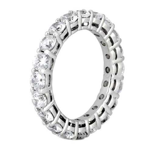 3.25 CT TW Shared Prong Diamond Eternity Wedding