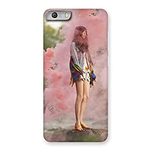 Ajay Enterprises Girl in colors Back Case Cover for Micromax Canvas Knight 2