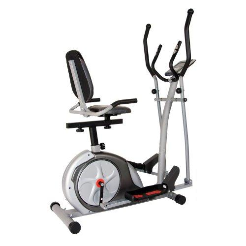 Body Rider 3-in-1 Trio-Trainer, Silver/Red