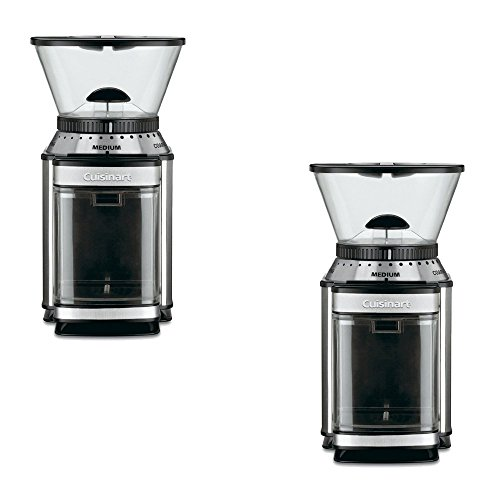 Cuisinart 8-oz Brushed Stainless Burr Coffee Grinder - Cuisinart Model - DBM-8 - Set of 2 Gift Bundle