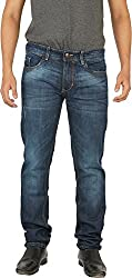 Hunter Men's Slim Fit Jeans (HRIPL002_Light Green_32)