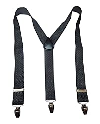 Navaksha Gray Geomatric Design Adjustable Suspender