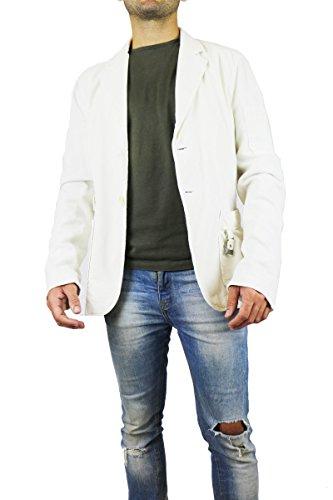 BIKKEMBERGS size 48 giacca uomo bianco cotone AK395