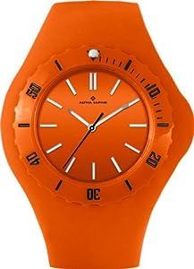 Alpha Saphir Damen-Uhren Quarz Analog 345H, 38 mm orange