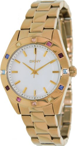 DKNY Nolita Gold with Colored Crystals Women's watch #NY8720