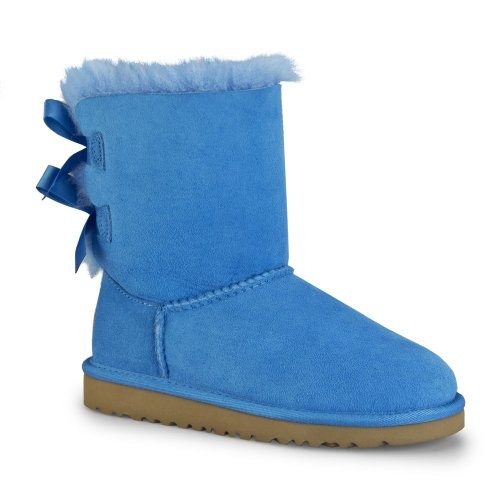 UGG Australia Infants' Bailey Bow Toddler Suede Boots,Blue Sky,7 Child US