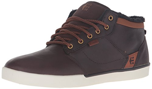 Etnies Men's Jefferson Mid Skateboarding Shoe, Brown/White, 11 M US