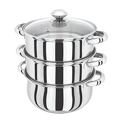 3tier-24cm-induction-hob-steamer-multi-veg-cooker-stainless-steel-pot-pan-set-with-lid