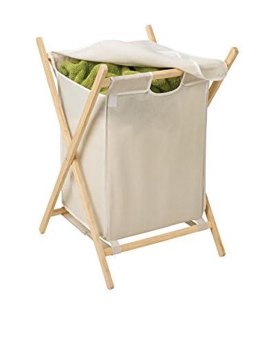 Honey-Can-Do Folding Frame Clothes Hamper, Wood/Natural