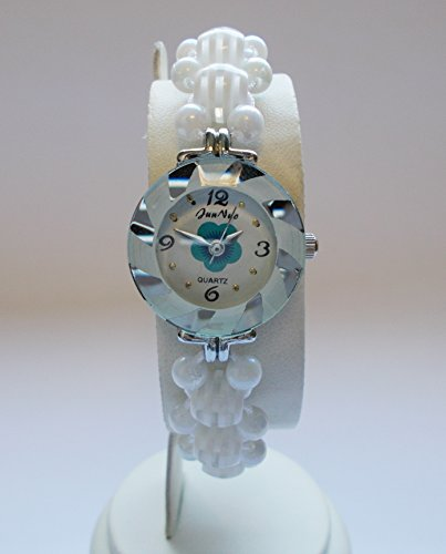 Bracelet Watch,Girls beautiful wrist watch, birthday gift, attractive stylish, Valentine gift (Pure white)