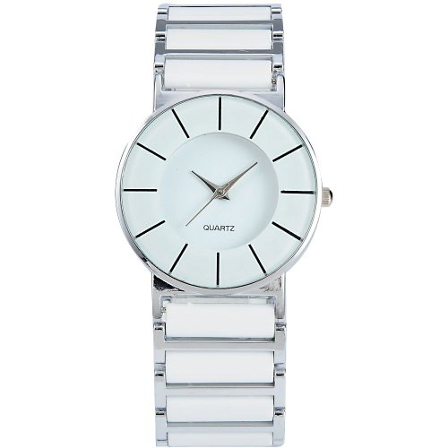 AMPM24 Fashion Women Lady Mens Silver White Sport Quartz Bracelet Wrist Watch