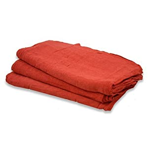 "100% Cotton Shop Towels 14"" X 14"", Available in Red - Pack of 100 Pcs by A&H WholeSales"