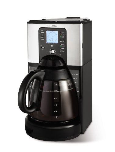 Mr. Coffee FTX41 12-Cup Programmable Coffeemaker, Black and Chrome