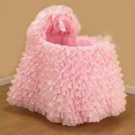 Little Ballerina Pink Bassinet Liner/Skirt And Hood - Size: 13X29 front-765080