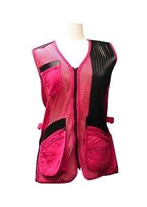 MizMac 'Perfect Fit' Women's Shooting Vest Hot Pink Mesh - LH 2XLarge
