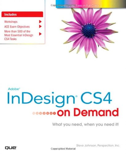 Adobe InDesign CS4 on Demand