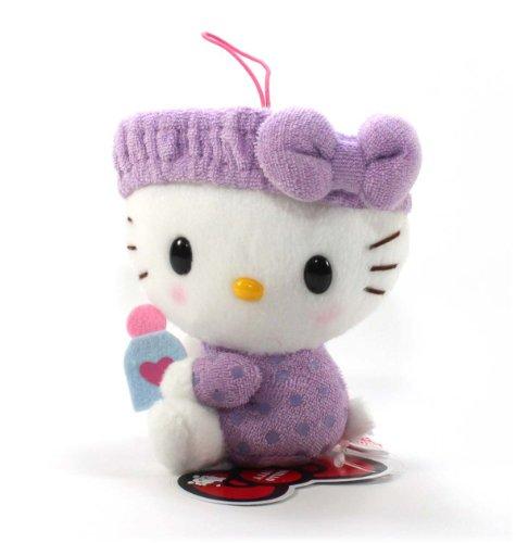 "Eikoh Hello Kitty Fresh Bath Time Plush Strap - 5"" Purple Bottle - 1"