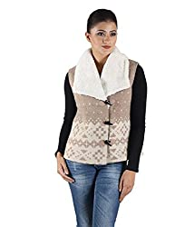 Owncraft Women's Woolen Jacket (Own_111_Beige_X-Small)