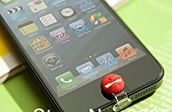 ZA eShop Cute Cartoon Lighting Cap Charger Port Dust Plug Jack For Apple Iphone5 Home Key Button Angry Bird