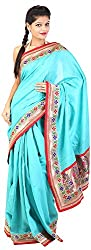 Mili Women's Silk Saree - (Blue, MS-25)