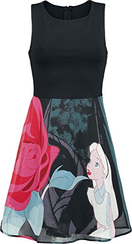 walt-disney-alice-in-wonderland-flower-abito-nero-xs