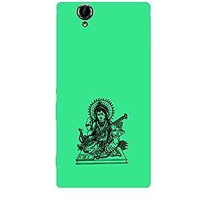Skin4gadgets Maa Saraswati- Line Sketch on English Pastel Color-Turquiose Green Phone Skin for XPERIA T2 ULTRA