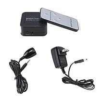 AGPtek® SPDIF/TosLink Digital Optical Audio Switchers 3x1 + IR Extender Line + Remote-control
