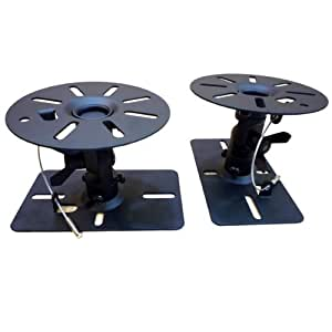 スピーカー天吊り金具 2個1組 ブラック SWB-ACE-101B
