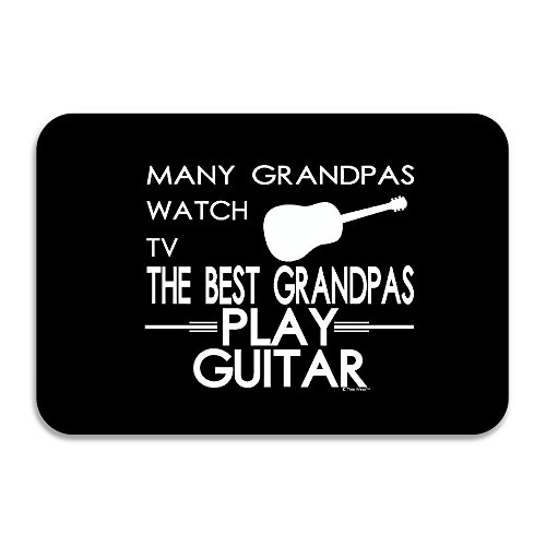 SARHT Many Grandpas Watch TV Best Grandpas Play Guitar Non-slip Doormat