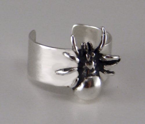 Sterling Silver Spider Ear Cuff