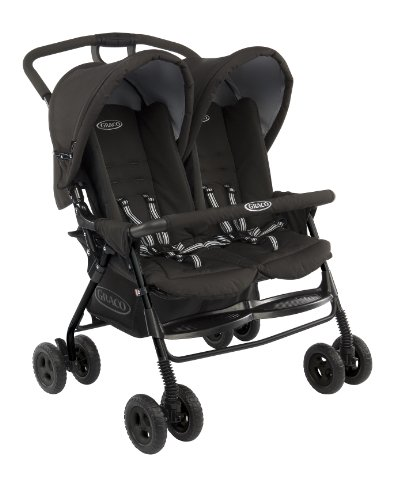 Graco Duosport Double Buggy for (Black, 6 - 36 Months)