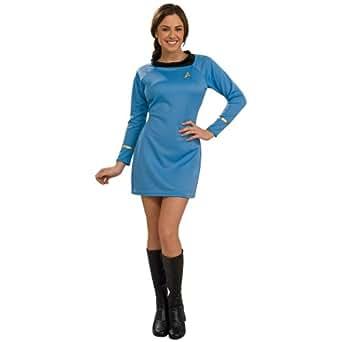 Star Trek Classic Deluxe Blue Dress Costume - X-Small - Dress Size 2-6