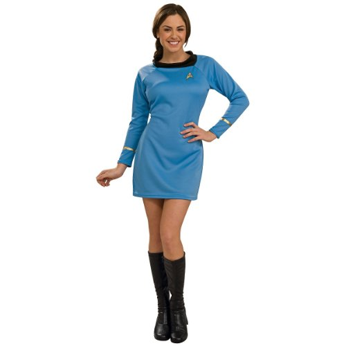 Star Trek Classic Blue Dress Deluxe Adult Costume (Womens X-Small)