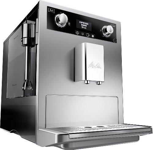Melitta E 965-101 silber Kaffeevollautomat Caffeo Gourmet -Aromaeinstellung, Profi Milchschaumquirl thumbnail