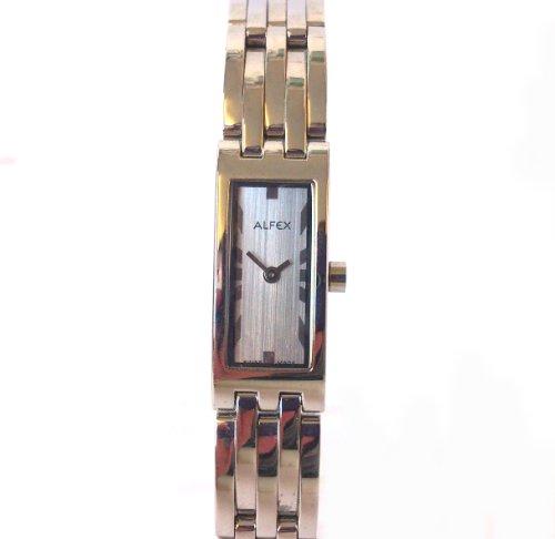ALFEX OF SWITZERLAND 5453 - Reloj para mujeres, correa de acero inoxidable color plateado