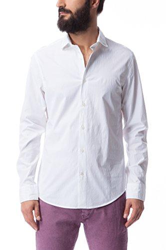GAS SIR/S 0001 Camicia da uomo a maniche lunghe slim fit logo ricamato