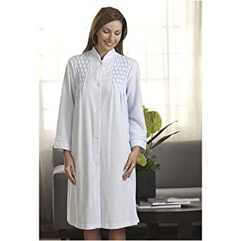 2760 M Blue Miss Elaine Snap Front Robe From