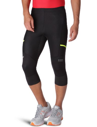 Gore Running Wear Gore Running Wear Men's X-Run Ultra SO Light Three Quater Tights (Black, Medium)