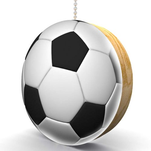 Soccer Ball Hardwood Oak Fan / Light Pull