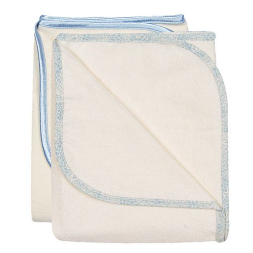 Bumkins Dusty Blue Cotton Swaddle 2-Pk - 1