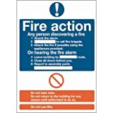 Fire Action Sign Rigid. 300x200mm.