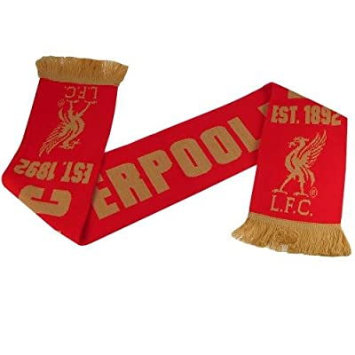 Official Liverpool FC Red & Gold Scarf