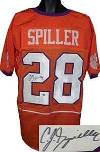 Autographed C.J. Spiller Jersey - Custom Orange XL Hologram - Autographed College...