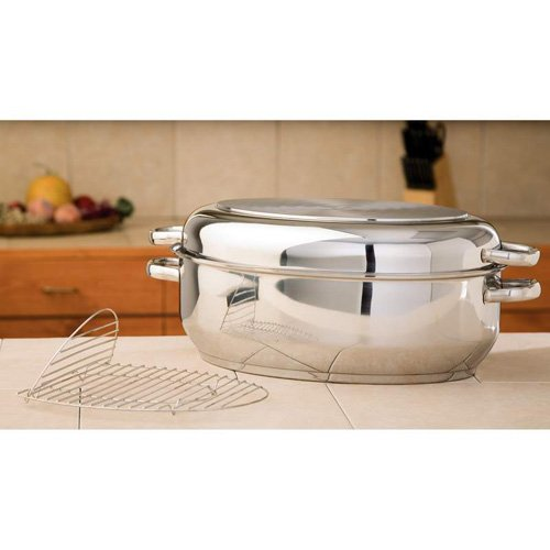 Precise Heat 12-Element Multi-Baker/Roaster With Wire Rack Riveted Handles Dishwasher Safe