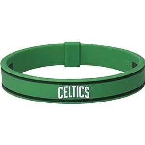 NBA Phiten Boston Celtics 7.5'' Green Silicone-Titanium Bracelet (6 3/4)