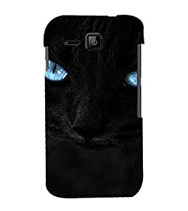 PrintVisa Blue Eyes Cat Design 3D Hard Polycarbonate Designer Back Case Cover for Micromax Bolt S301